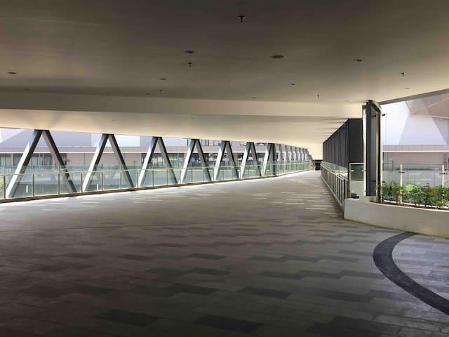 Sky Bridge to icity Shopping Mall