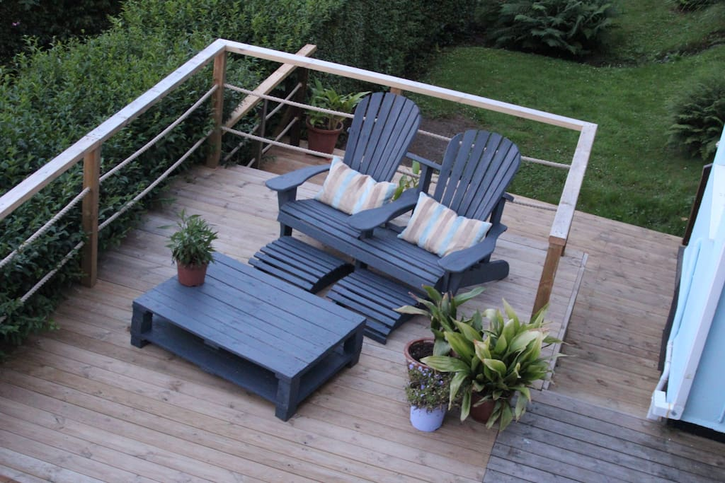 Your deck area with spectacular sea view