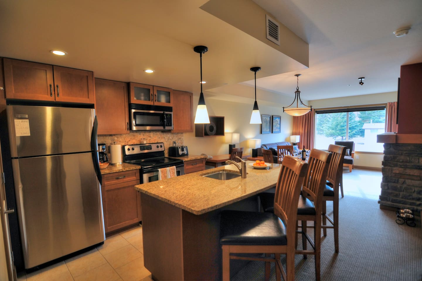 Kitchen with all the comforts of home!