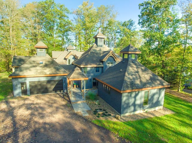 Beautiful Lake Access Home w/Dock Slip, Hot Tub, Fire Pit, & Game Tables!