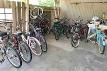 Bikes to share with both sides