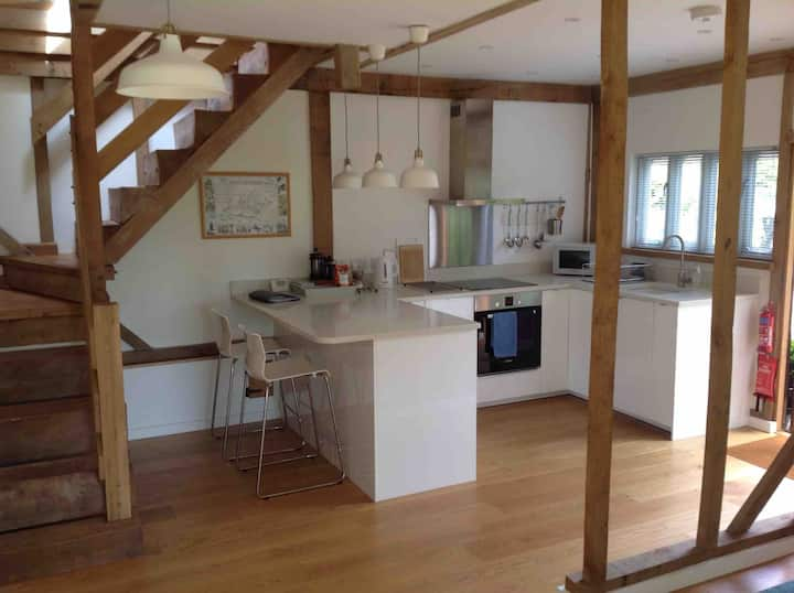 Self contained barn conversion in rural village