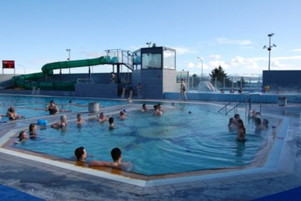 Outdoor pool some 5 minutes walking distance