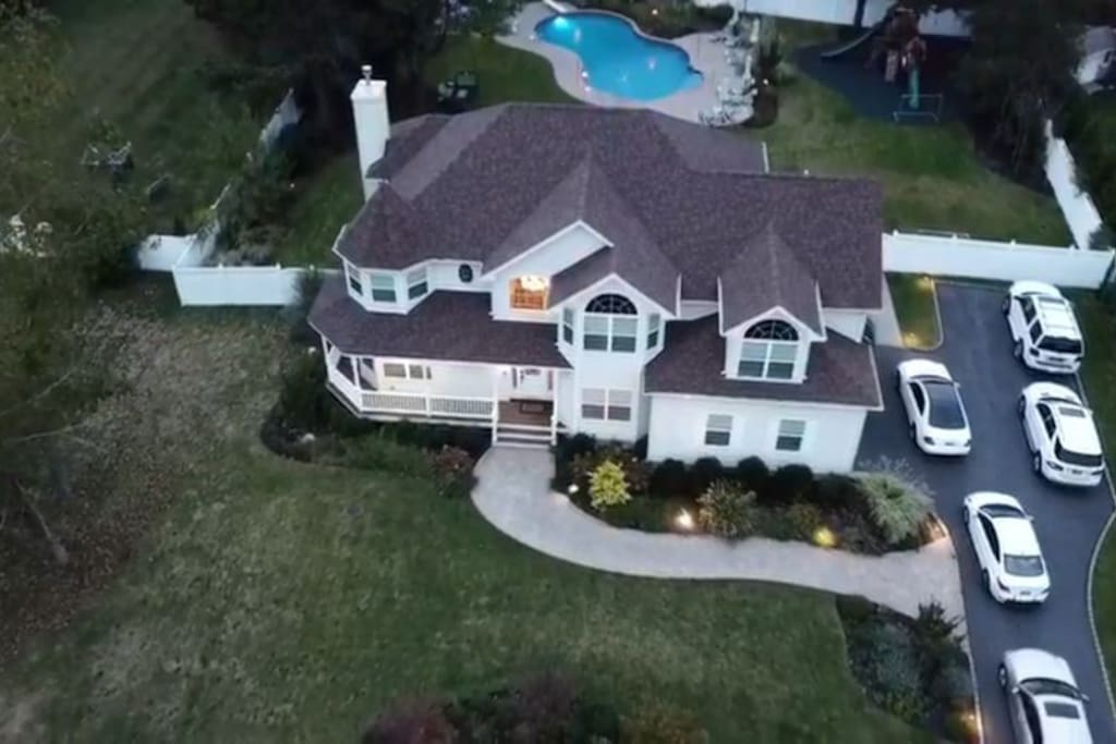 Drone view of Mansion