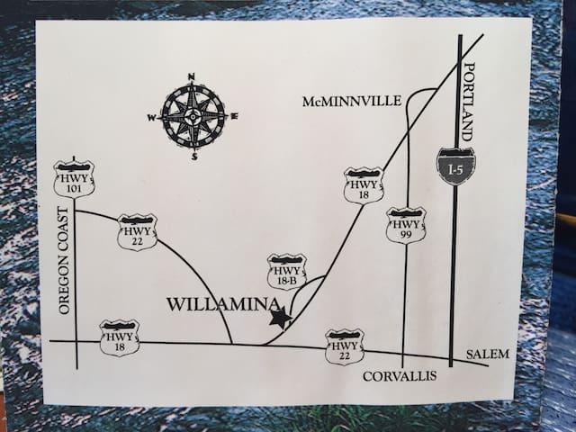 WILLAMINA--Centrally located.