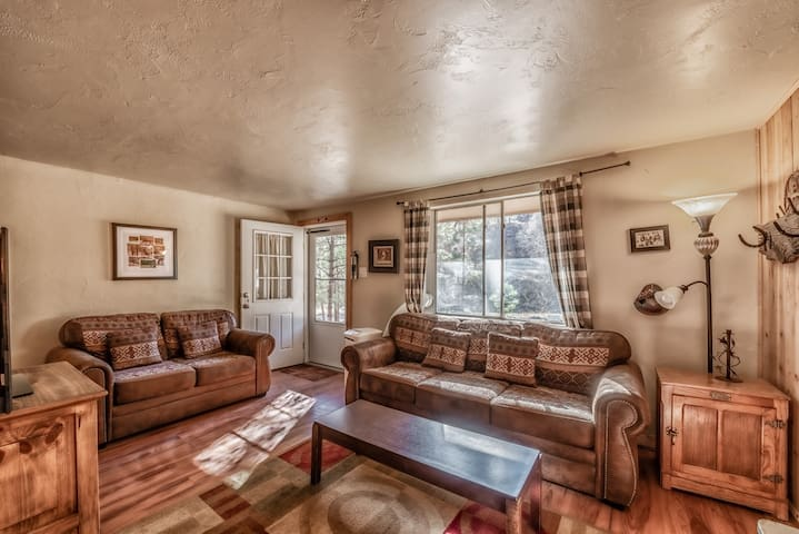River's Edge Cabin: Cute, Cozy 2 Bedroom RIGHT Across from the River!