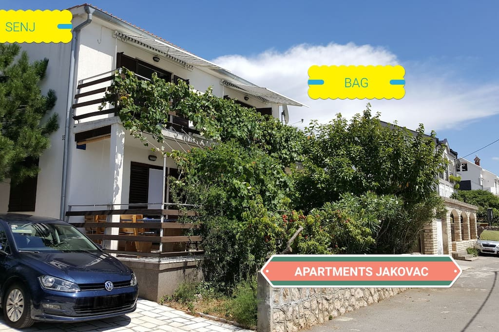 Apartments Jakovac BAG, our house for your great holiday!