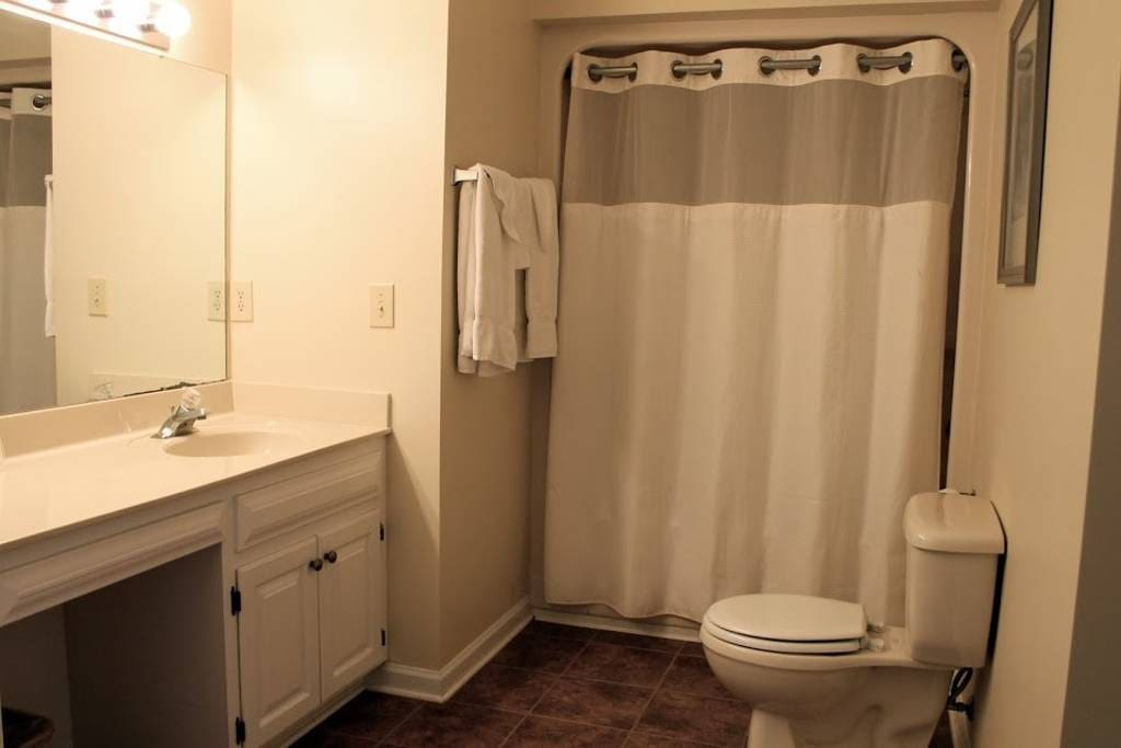 Spacious, Clean, Well Stocked private bathroom.