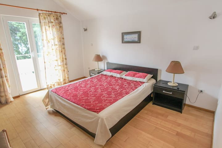 Bedroom 1 - Double bed, fitted wardrobe, Balcony