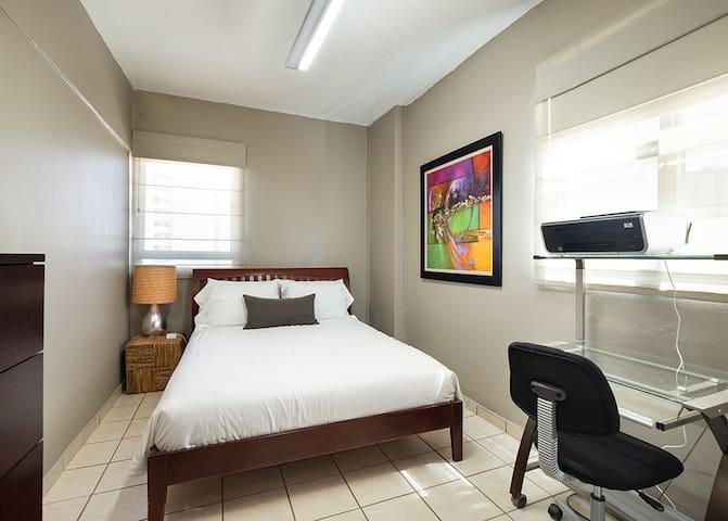 Bedroom #1, blackout shades
