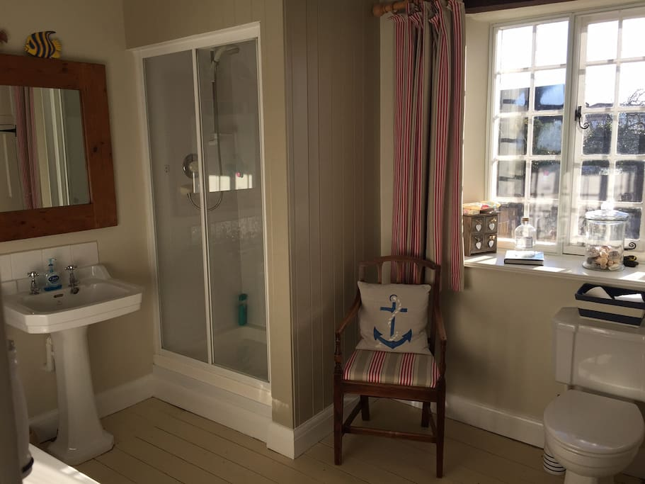 Large bathroom for private use - includes bath.