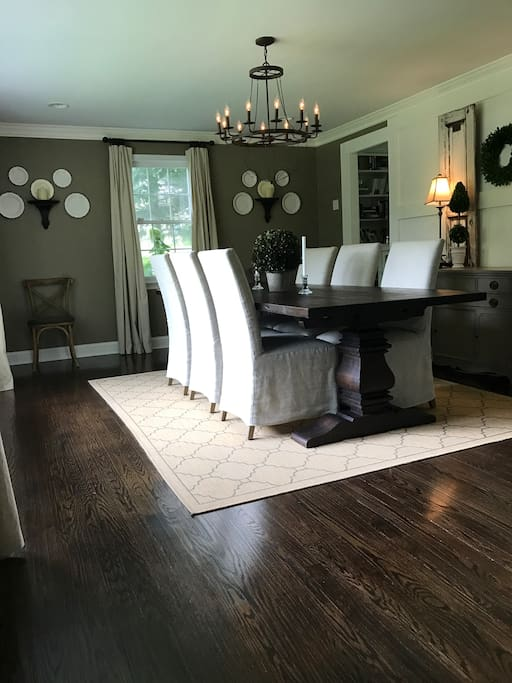 Large dining room perfect for family meals