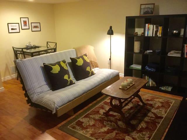 This cozy one bedroom basement flat