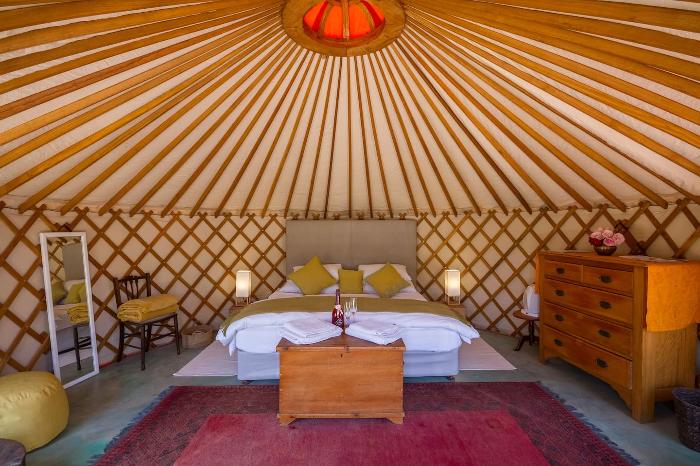 The Yurt: your comfortable and fully equipped bedroom