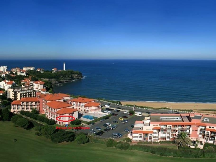 t2 biarritz anglet entre mer et golf avec piscine appartements louer anglet nouvelle. Black Bedroom Furniture Sets. Home Design Ideas