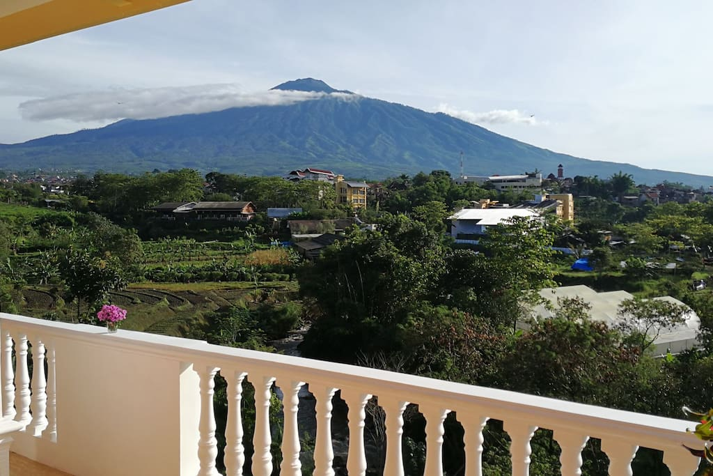 Mt. Arjuno from 1st floor terrace.