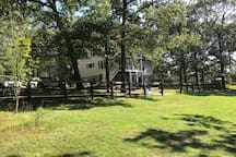 View from back pasture to main house.