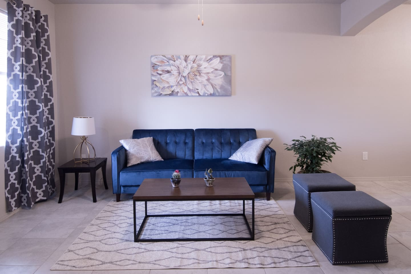 Be one of the first to stay in this brand new home! Everything at Casa del Sol is sparkling new, including this sofa that converts to a bed.