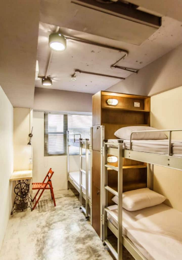 Mixed dorm 4 beds Huashan 1914 Taipei main station
