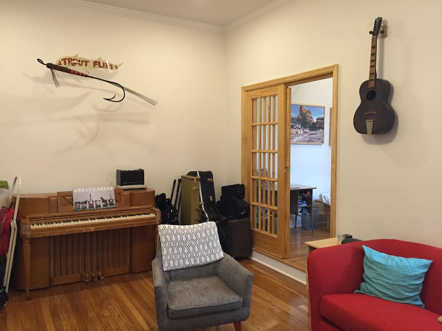 Tons of instruments, in case you like to play music.