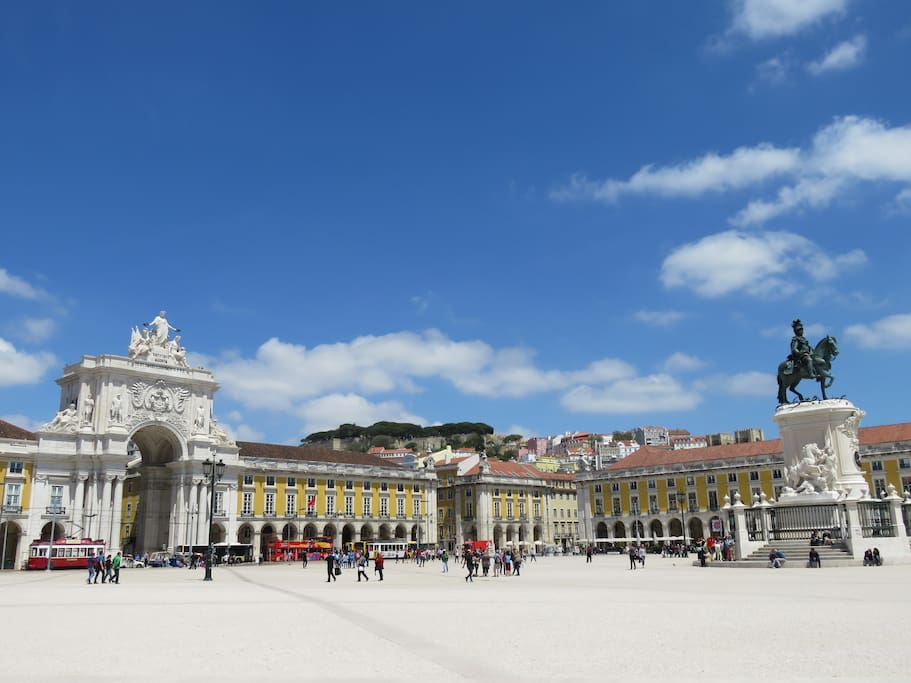 Terreiro do Paço square -just one street away