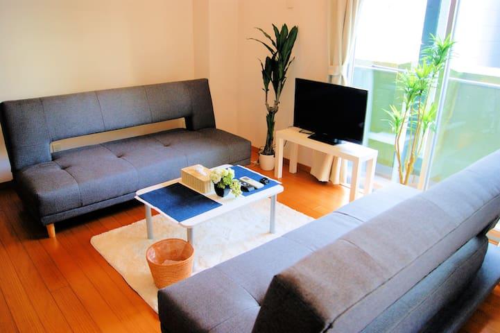 Good Designed at Tenjin Area+4Beds-WIFI up to 8Pax - Chūō-ku, Fukuoka-shi - Appartement
