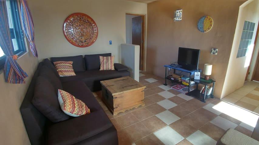 upper floor - sitting area (sofa bed)
