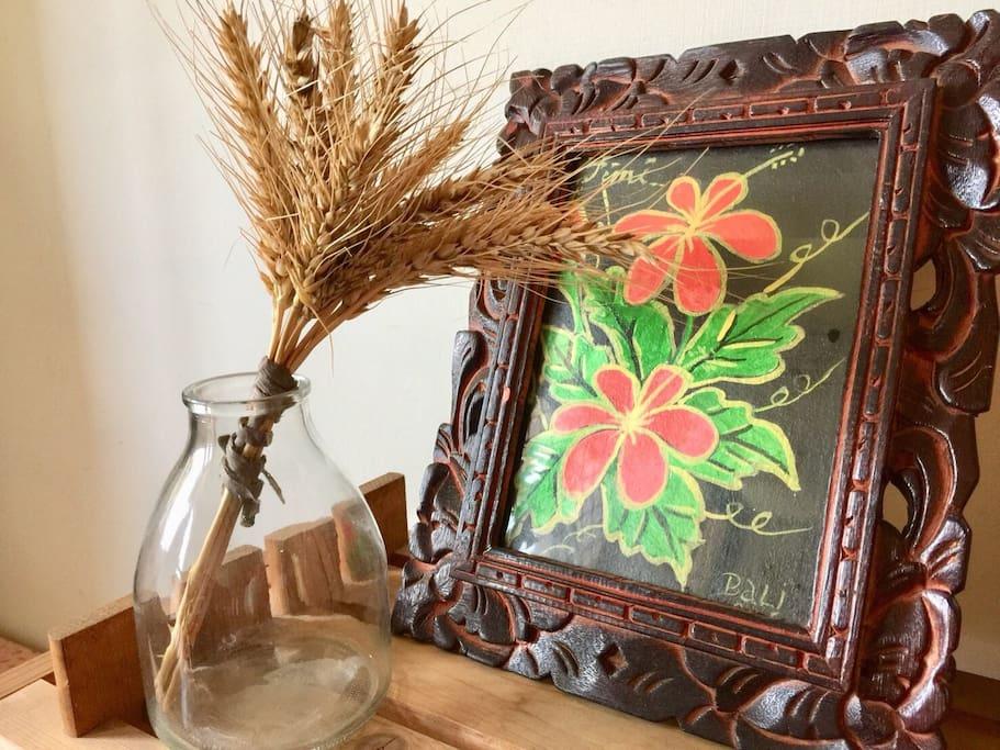 峇里島的畫V.S金門的麥子