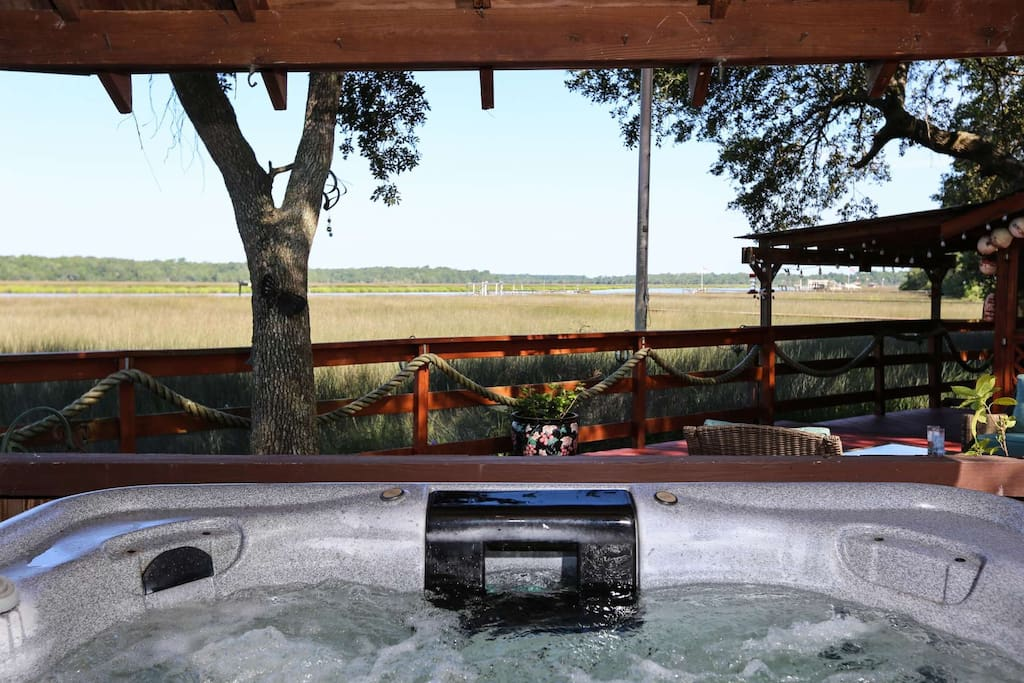 The hot tub awaits you after a long day of golfing, boating, sightseeing or doing absolutely nothing.