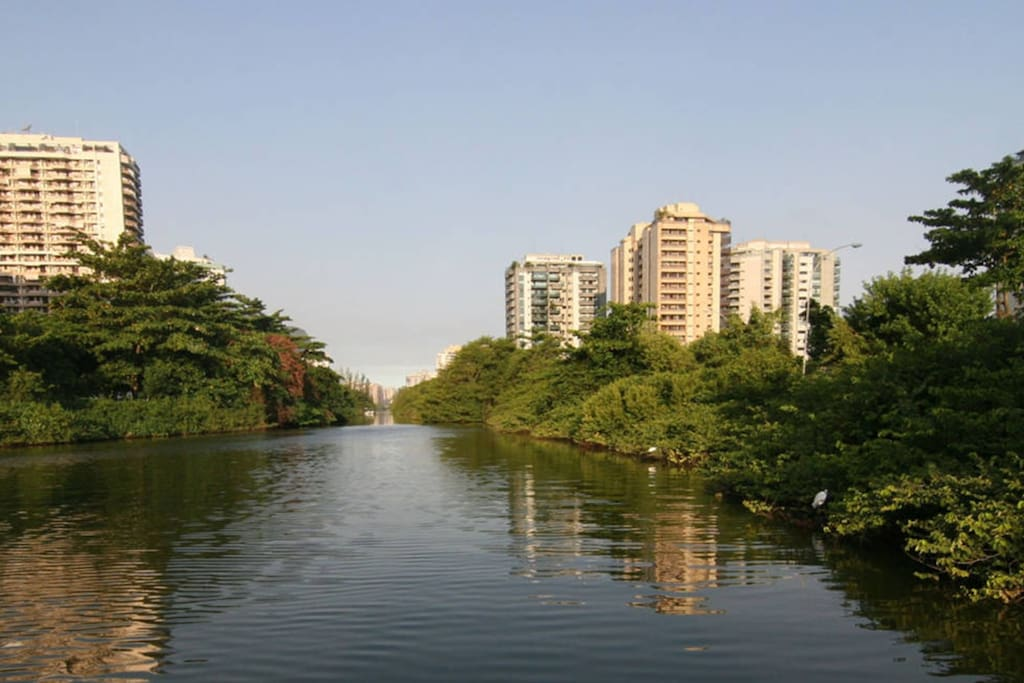 The condo is the one on the left, at the border of Marapendi Channel