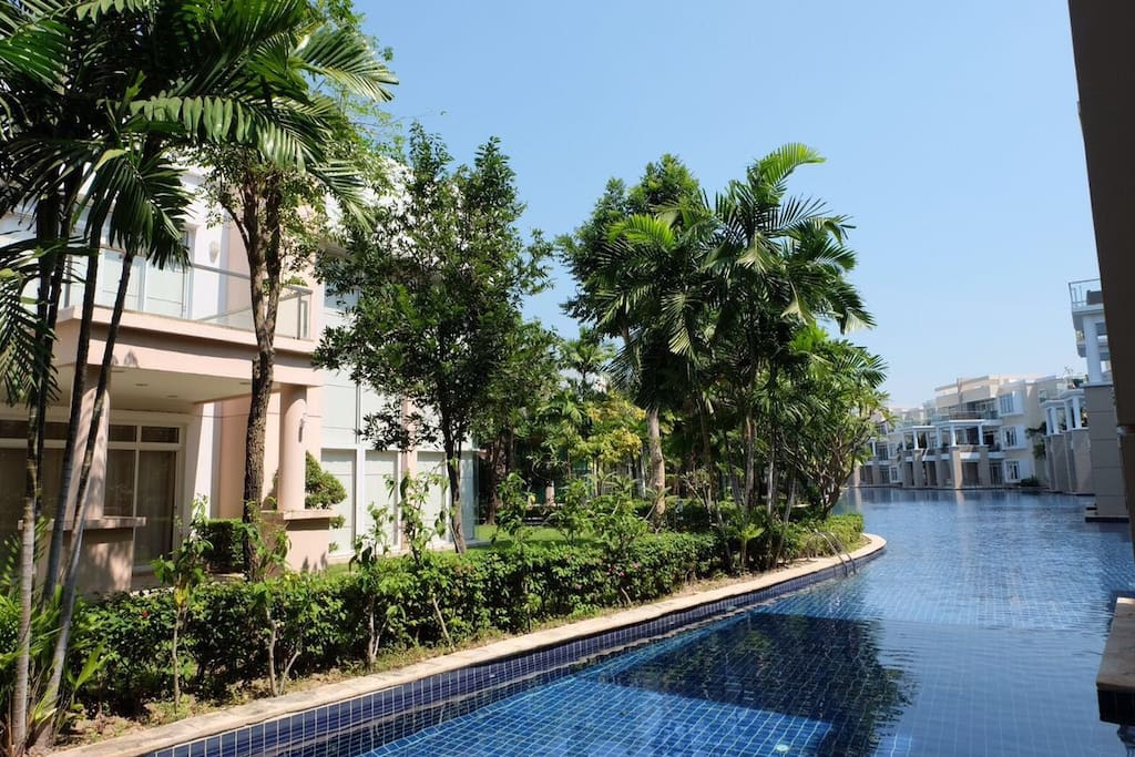 Direct access to Blue Lagoon Pool (The longest swimming pool in Hua Hin)