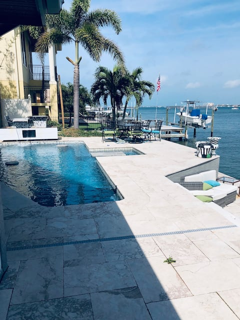 Private & Modern Waterfront Pool & Hot Tub Home