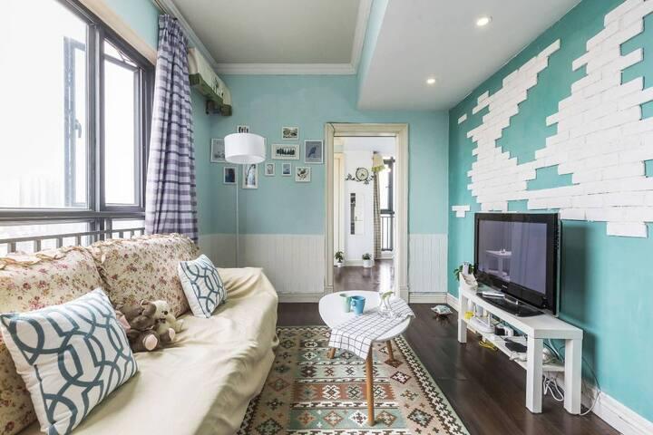 锦里 天府广场春熙路一室一厅Tiffany蓝