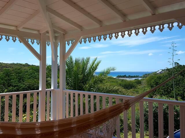 Jolie villa créole vue mer dans quartier calme - Collectivity of Saint Martin - Villa
