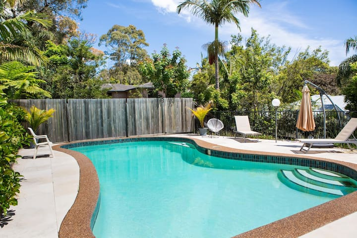 Tranquil Getaway Moments to Beach With Pool