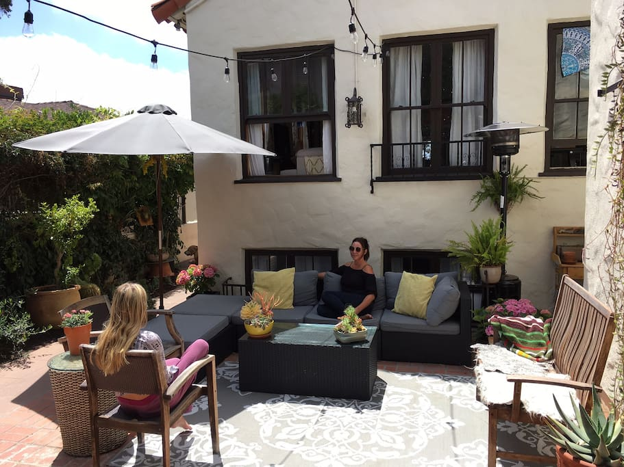 lounge area and outside dinning