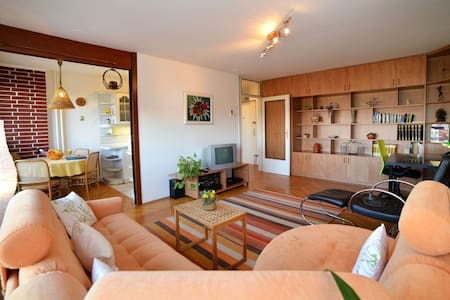 Bright apartment in a green area - 萨格勒布 - 酒店式公寓