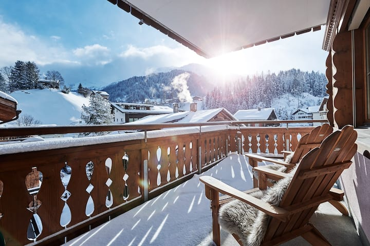 Klosters luxury home in the heart of the village