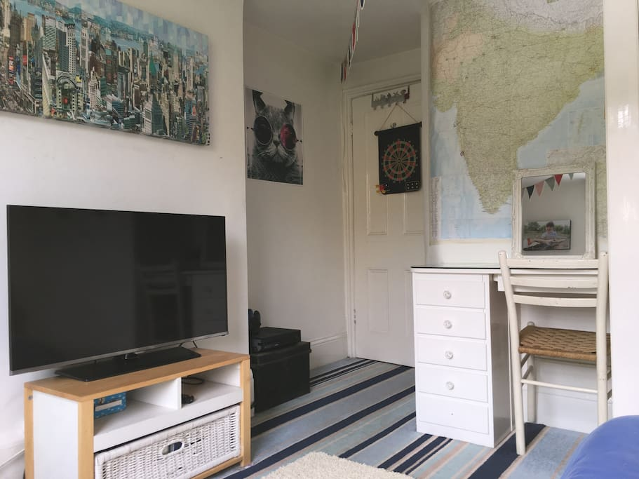 Large TV, Xbox and desk/dressing table