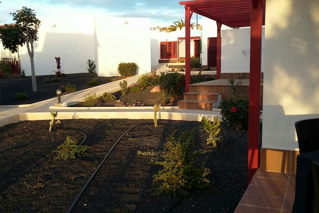 View of the resident's garden.