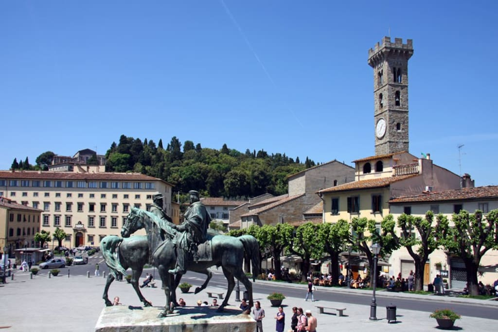 The main square in Fiesole