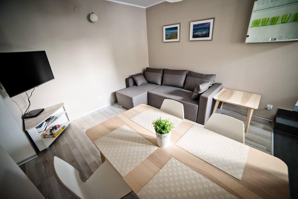 Apartament z Ogródkiem - Salon