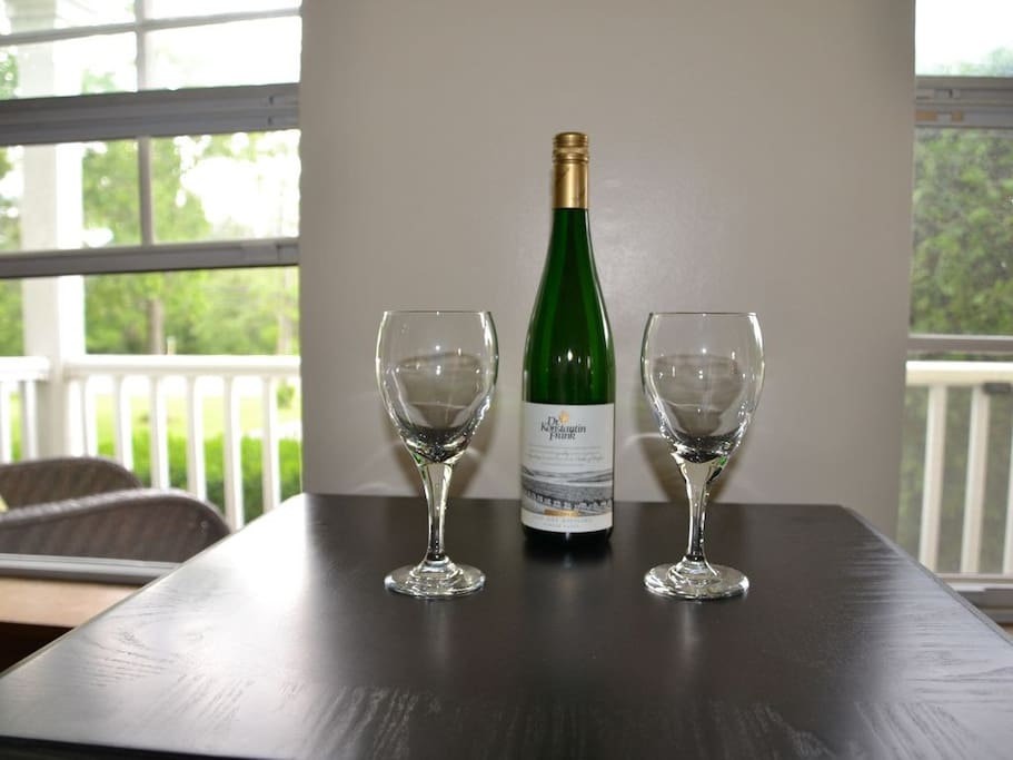 Enjoy a glass of wine from the local wineries!