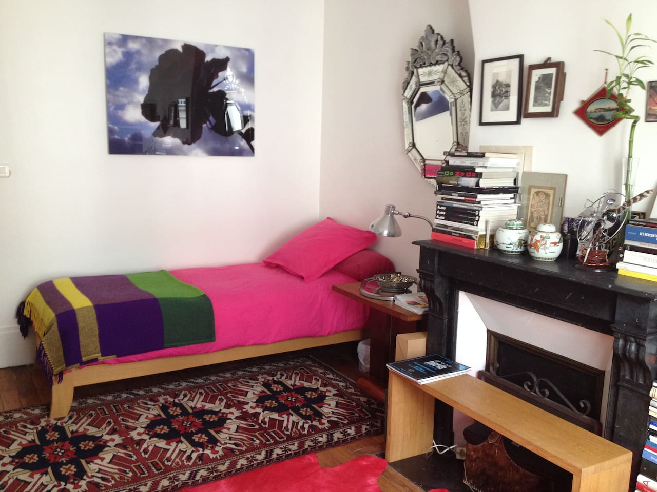 Room with comfortable bed  80X200