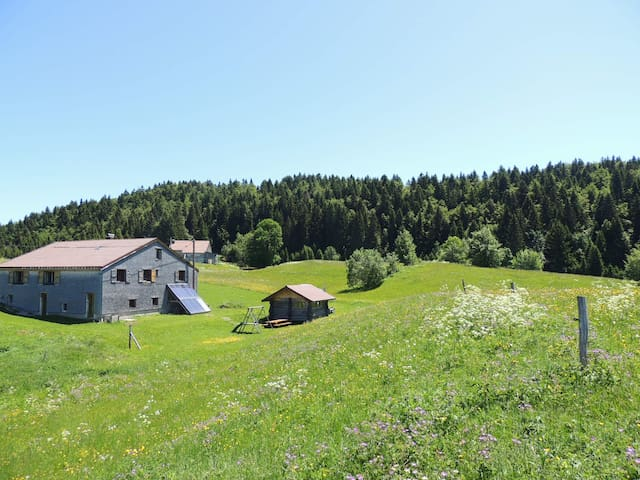 Authentic lodge with Jacuzzi in the Jura Mountains - La Pesse