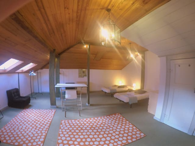 Large and beautiful double room or triple (extra bed for €150/month)