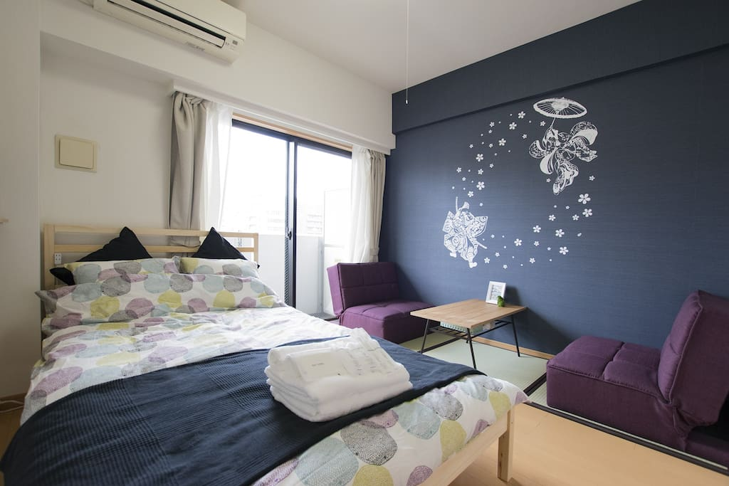 Here is the place you will be staying! Japanese Modern Style!