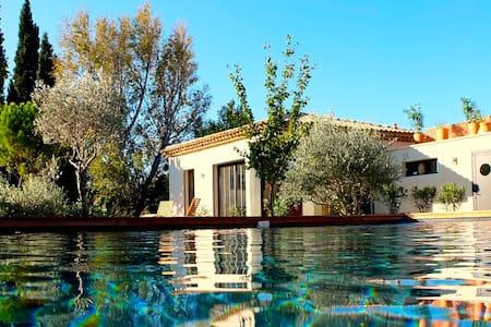 Maison de charme, jacuzzi, piscine. - Pélissanne