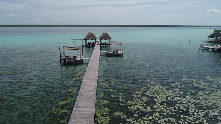 New Listing! PRIVATE HUT @Bacalar 7 Colors Lagoon 50% OFF