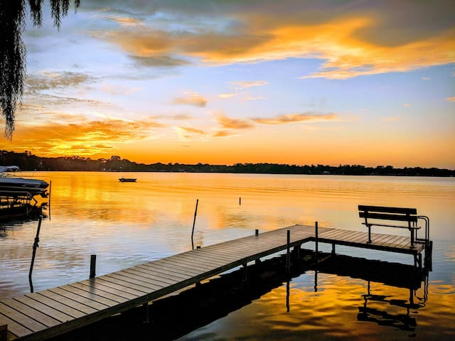Sunsets on Round Lake